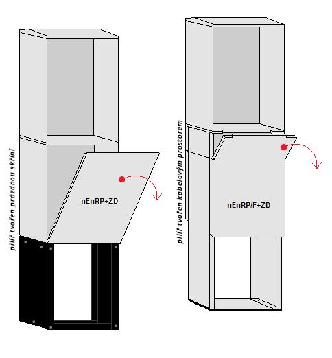 Pilíř je nosný sloup určený k upevnění volně stojícího rozvaděče.